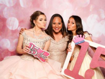 San Antonio photo booth backdrop Pink Sparkle